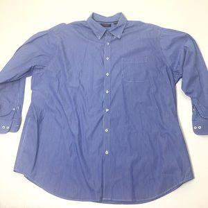 Men's Size 4XT Roundtree & Yorke 4XLT Dress Shirt